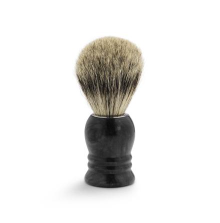 Shaving brush marble, black