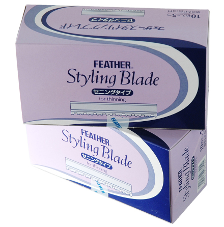 Feather blade, pink 5x10-pack